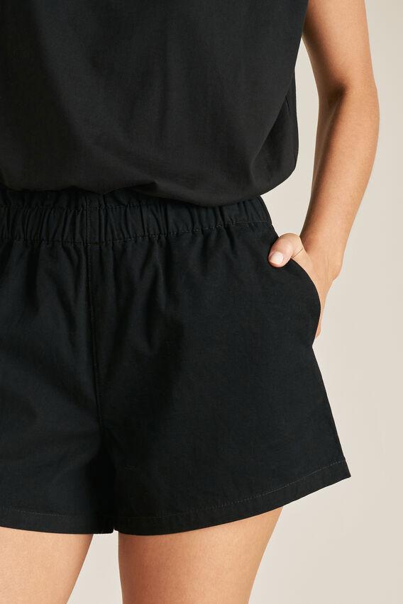 Elastic Waist Short  BLACK  hi-res