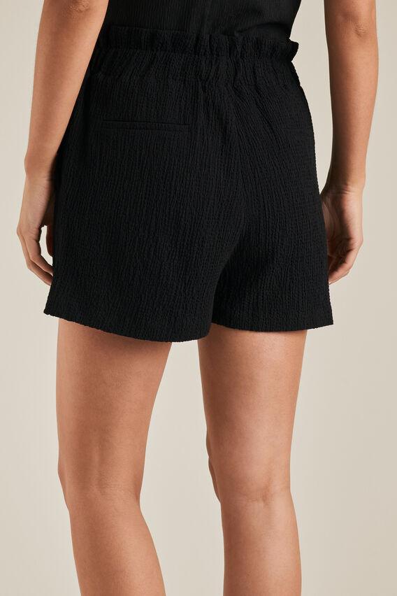 Textured Woven Short  BLACK  hi-res