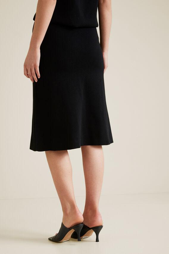 A-Line Crepe Skirt  BLACK  hi-res