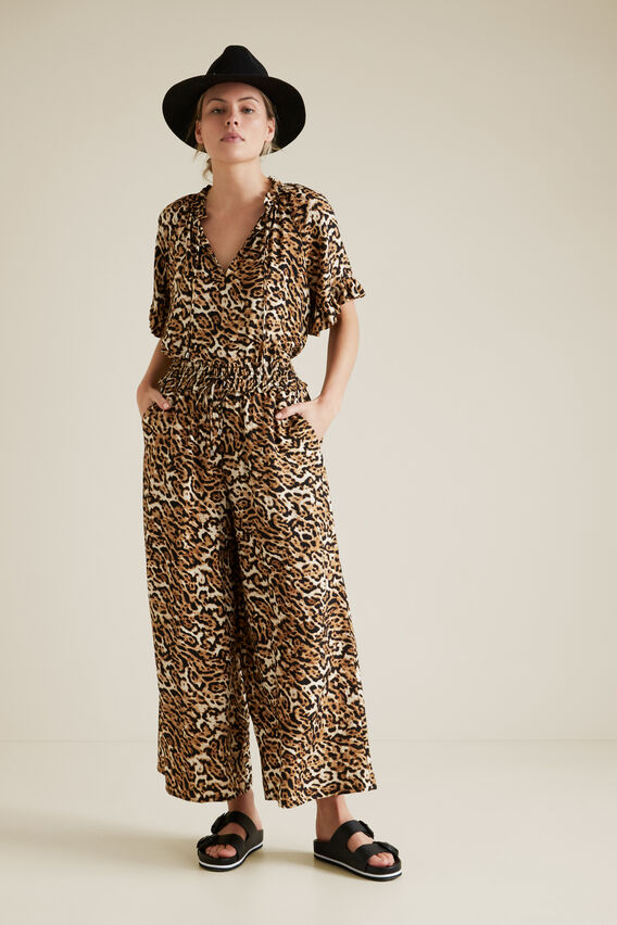 Relaxed Leopard Pant  LEOPARD  hi-res