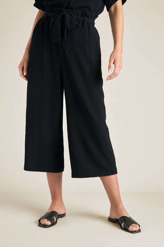 Textured Crop Pant  BLACK  hi-res