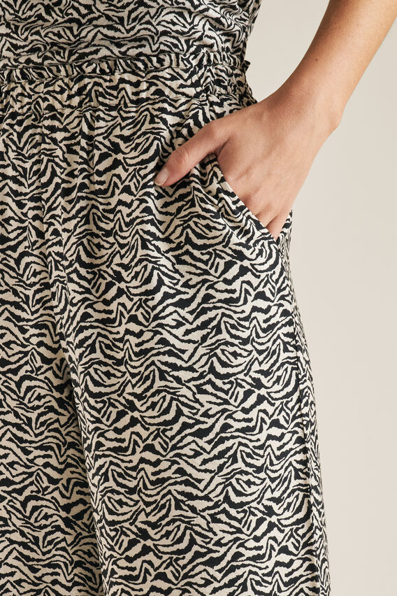 Wide Leg Printed Pant  ZEBRA  hi-res
