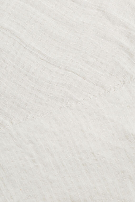Textured Scarf  CLOUD CREAM  hi-res