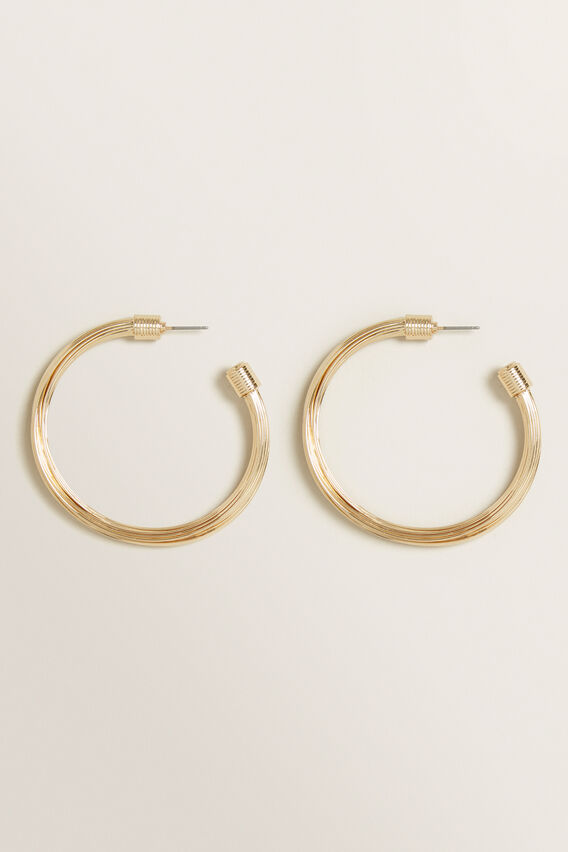 Large Layered Hoops  GOLD  hi-res