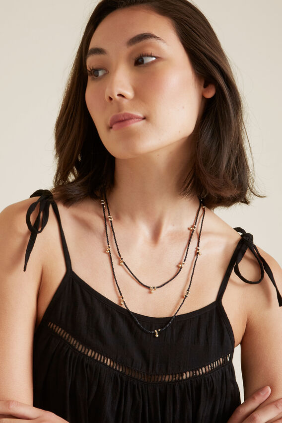 Cord Necklace  BLACK  hi-res