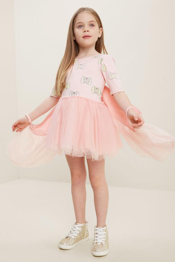 Butterfly Tutu Dress  DUSTY ROSE  hi-res