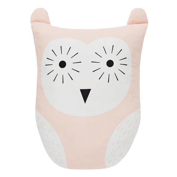 Owl Cushion  FUZZY PEACH  hi-res