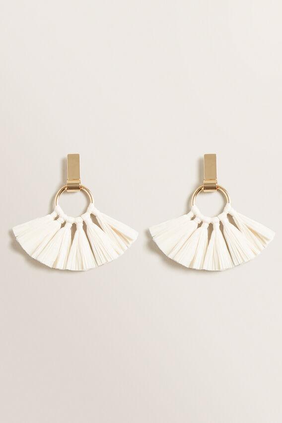 Circle Tassel Earring  NATURAL  hi-res