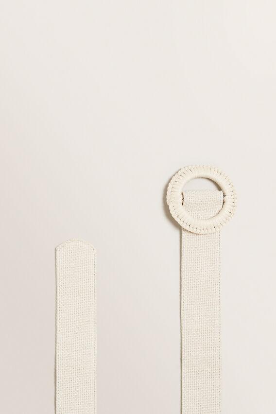 Weave Buckle Belt  CREAM  hi-res