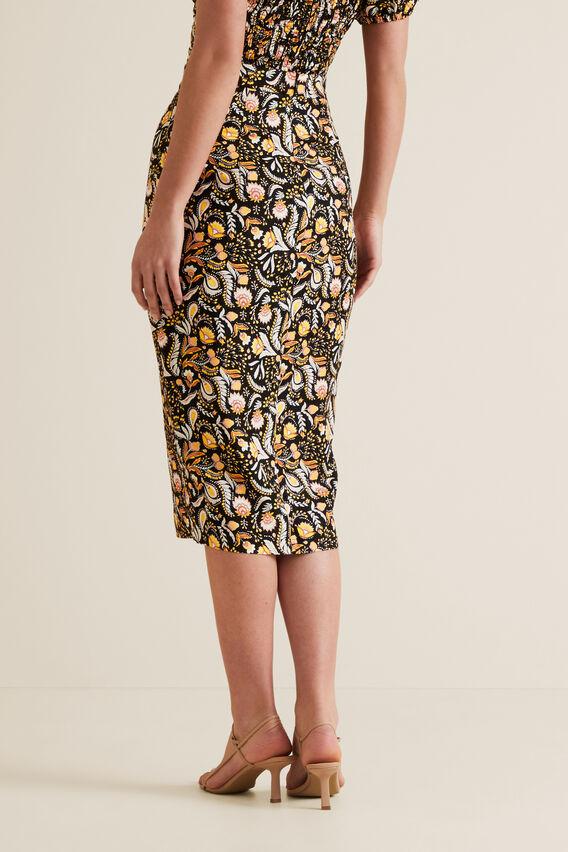 Button Detail Midi Skirt  VINTAGE PAISLEY  hi-res