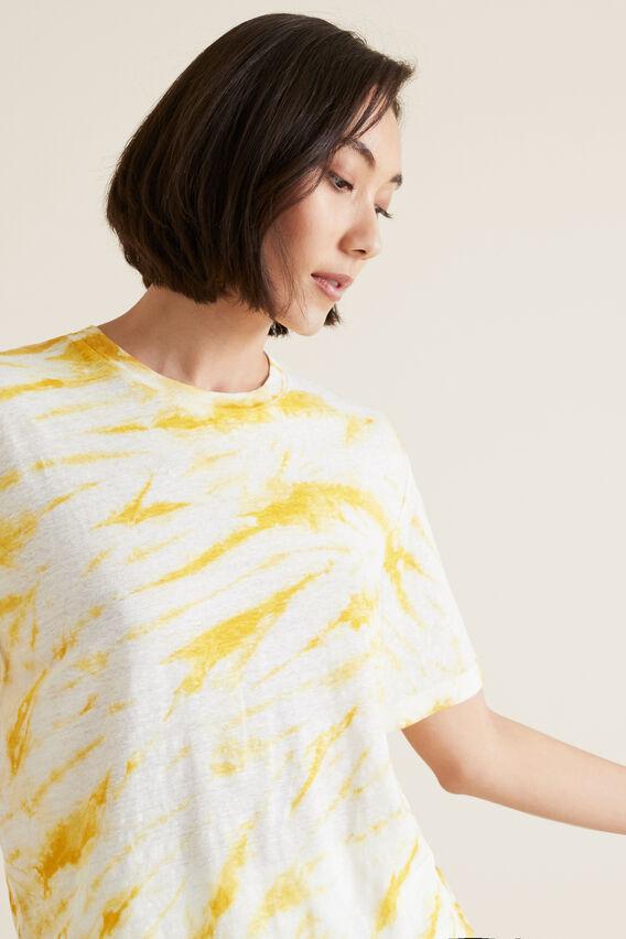 Tie Dye Linen Tee  GOLD RUSH TIE DYE  hi-res