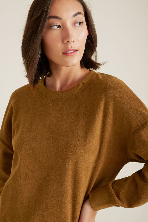 Comfy Terry Sweater  SPICE  hi-res