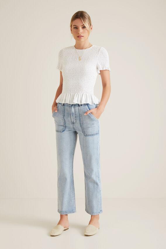 Patch Pocket Jean  LIGHT SKY DENIM  hi-res