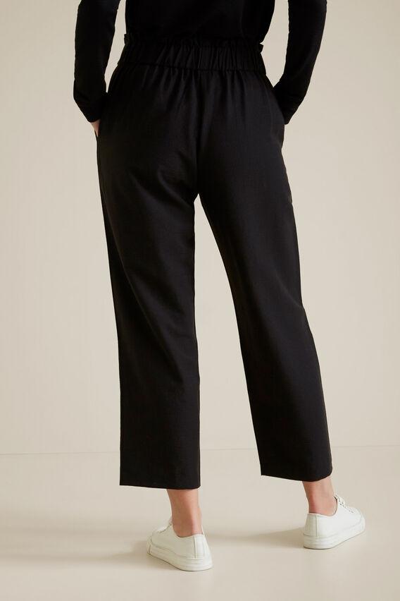 Wide Leg Textured Pant  BLACK  hi-res