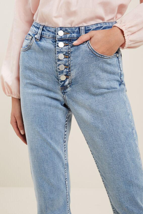 Button Up Jean  MID VINTAGE WASH  hi-res