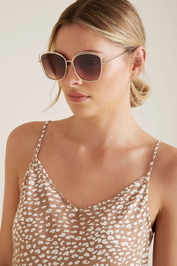 Ivy Metal Frame Sunglasses  GOLD  hi-res