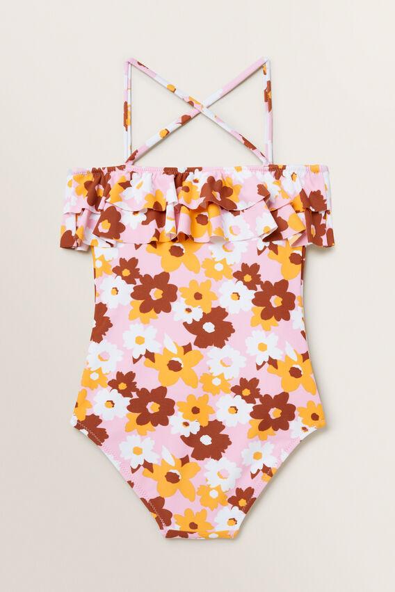 Floral Frill Bather  MULTI  hi-res