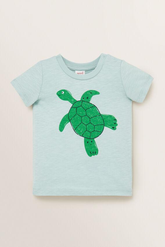 Turtle Print Tee  SEAFOAM  hi-res