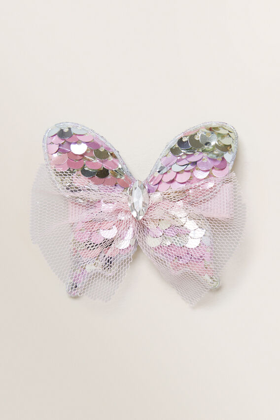 Sequin Butterfly Duck Clip  MULTI  hi-res