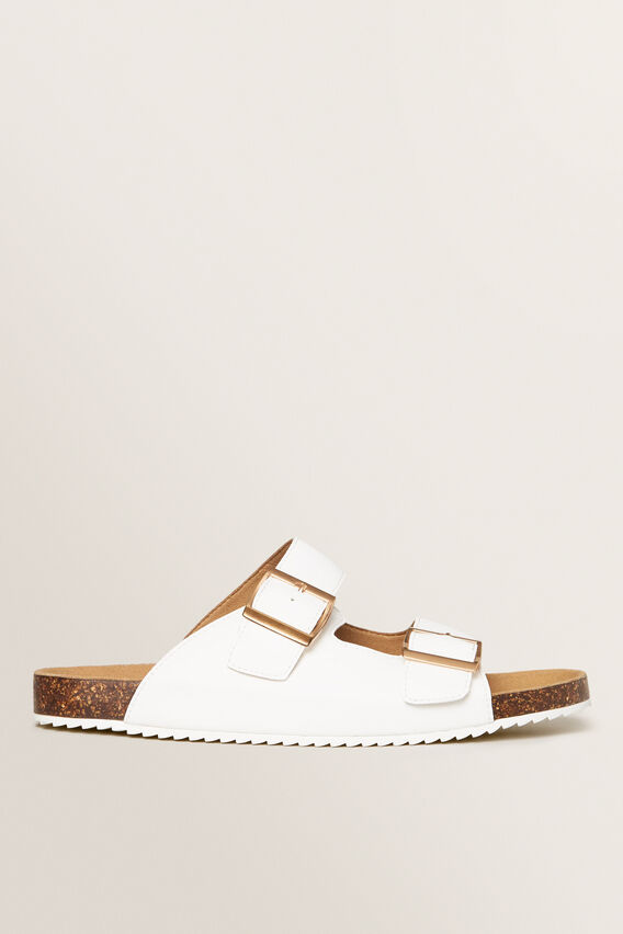 Double Buckle Slide  WHITE  hi-res