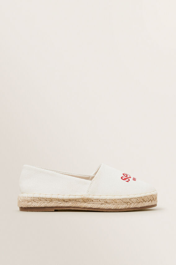 Seed Logo Espadrille  CANVAS RED  hi-res