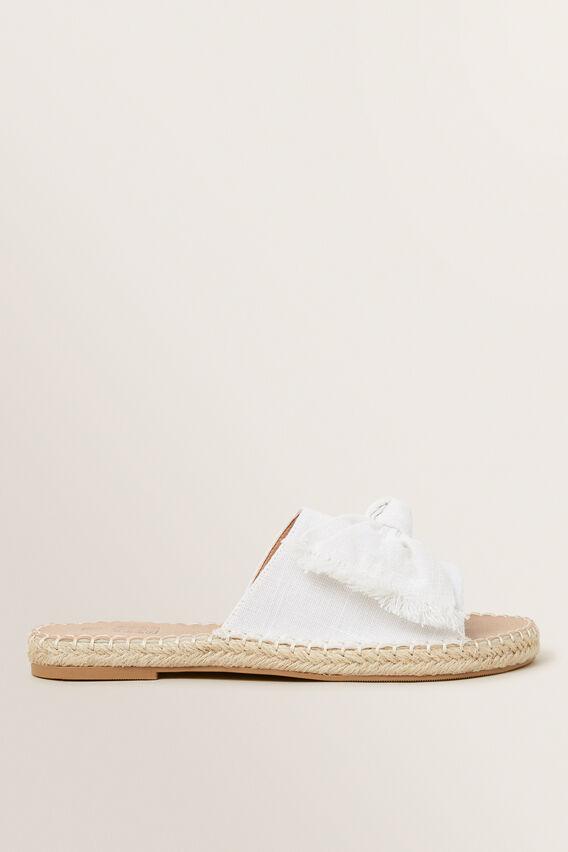 White Bow Slides  WHITE  hi-res