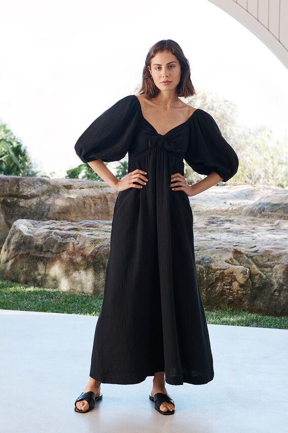 Cheesecloth Maxi Dress  BLACK  hi-res