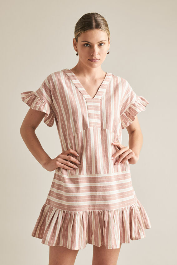 Stripe Panel Dress  STRIPE  hi-res