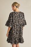 Animal Ruffle Dress  LARGE OCELOT  hi-res