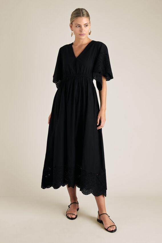 Embroidery Maxi Dress  BLACK  hi-res