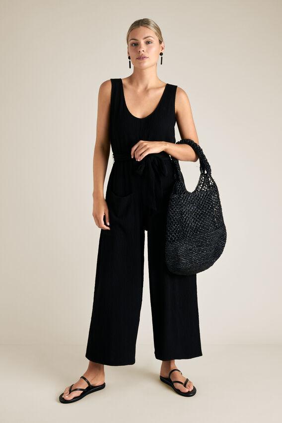 Crinkle Jumpsuit  BLACK  hi-res