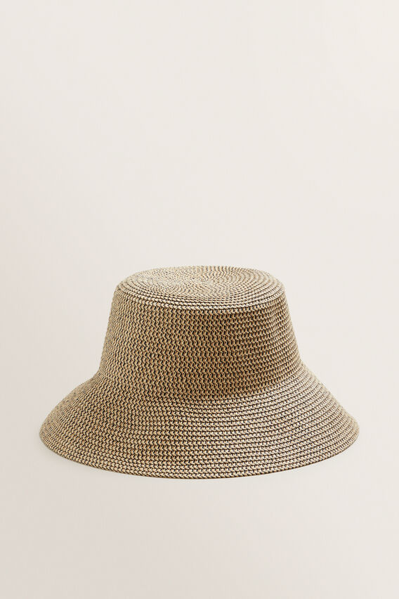 Bucket Hat  NATURAL/BLACK  hi-res