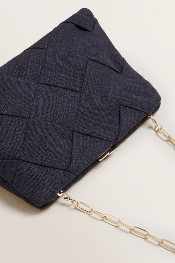 Weave Frame Clutch  BLACK  hi-res