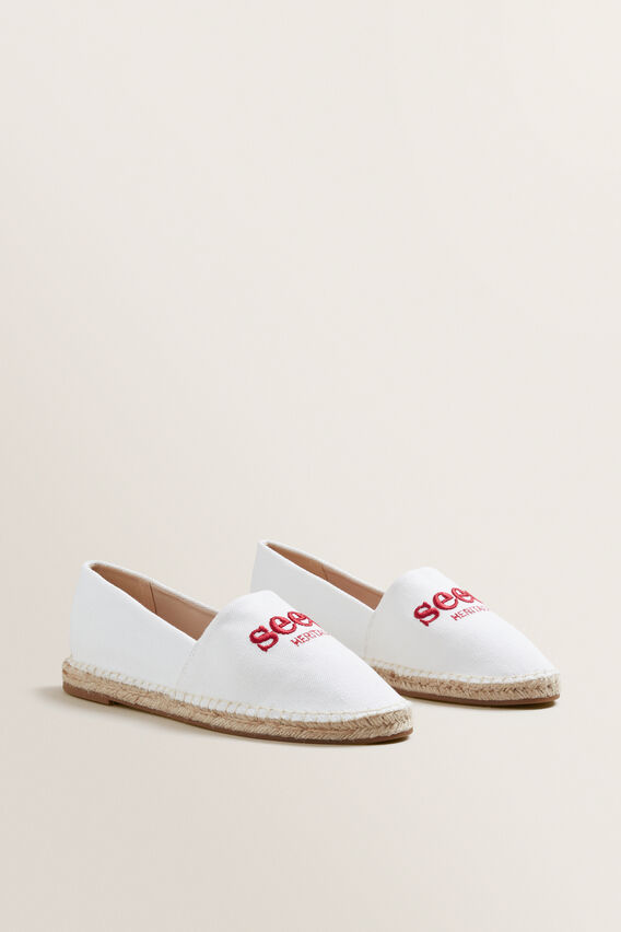 Seed Heritage Espadrille  CANVAS RED  hi-res