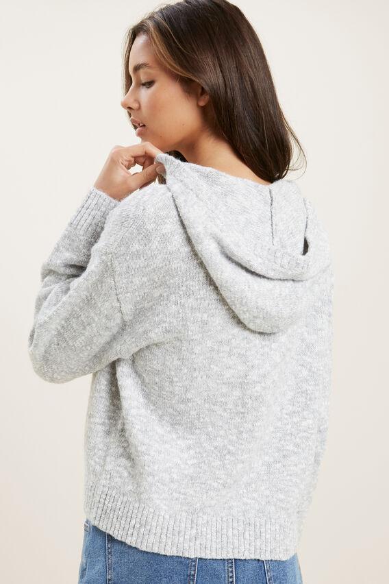 Hooded Knit  CLOUD  hi-res