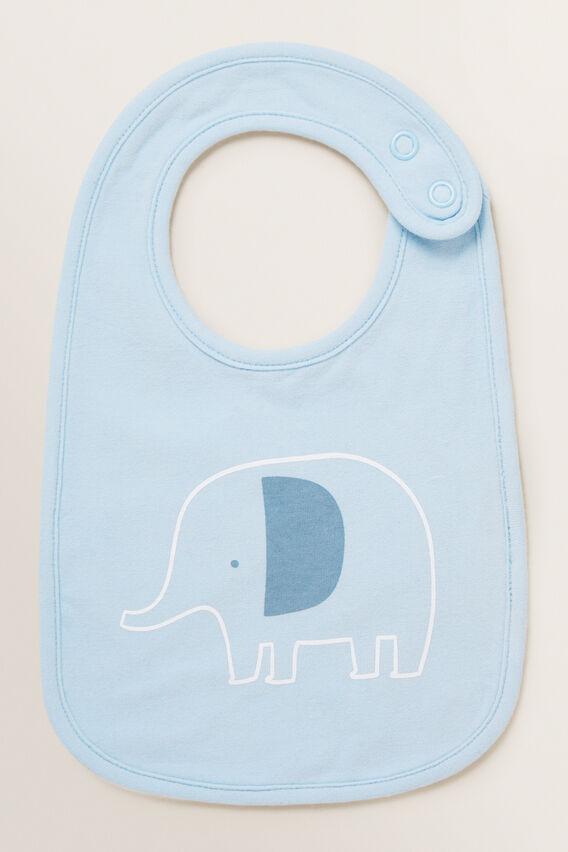 Elephant Bib  POWDER BLUE  hi-res