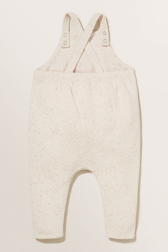 Quilted Pocket Overall  OAT SPECKLE  hi-res
