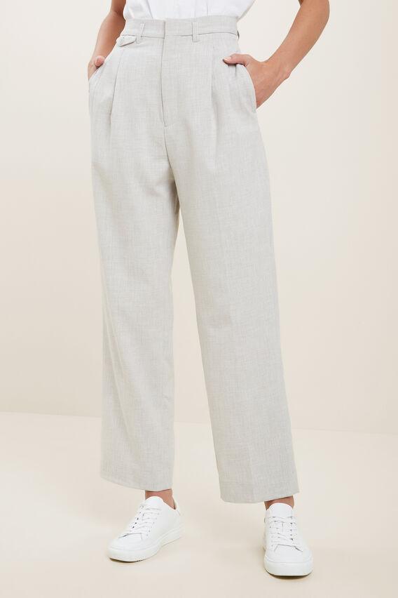 High Rise  Melange  Suit Pants  FOSSIL MELANGE  hi-res
