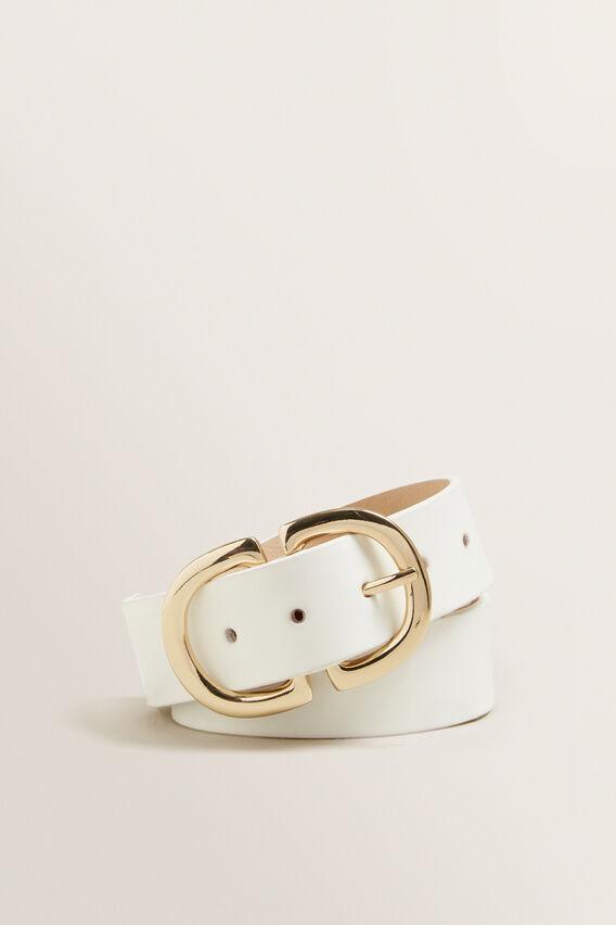 Ring Buckle Belt  WHITE  hi-res
