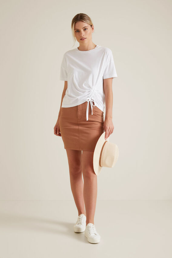 Stitch Denim Skirt  RED DESERT  hi-res