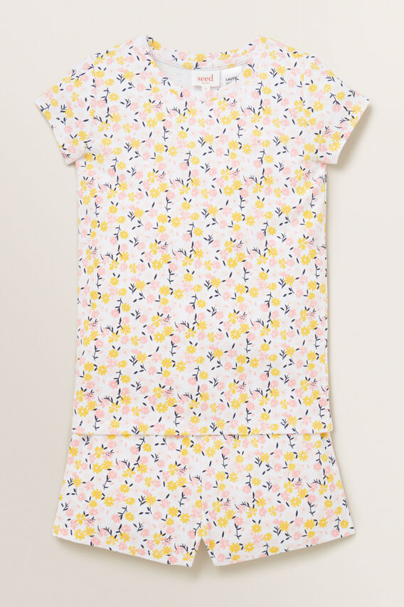 Ditsy Short Sleeve Pyjama  MULTI  hi-res