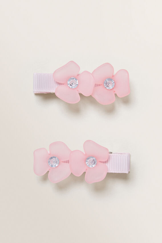 Flower Duck Clips  DUSTY ROSE  hi-res