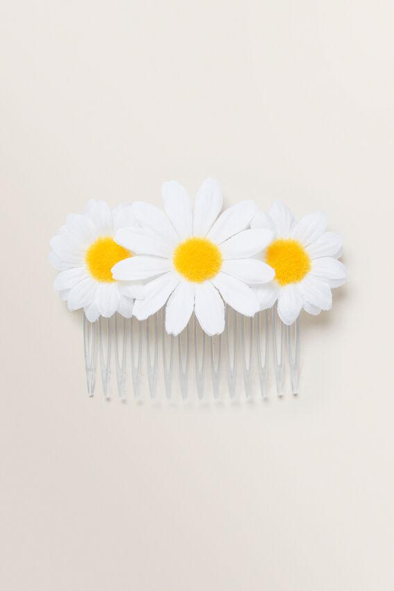 Daisy Comb  WHITE  hi-res
