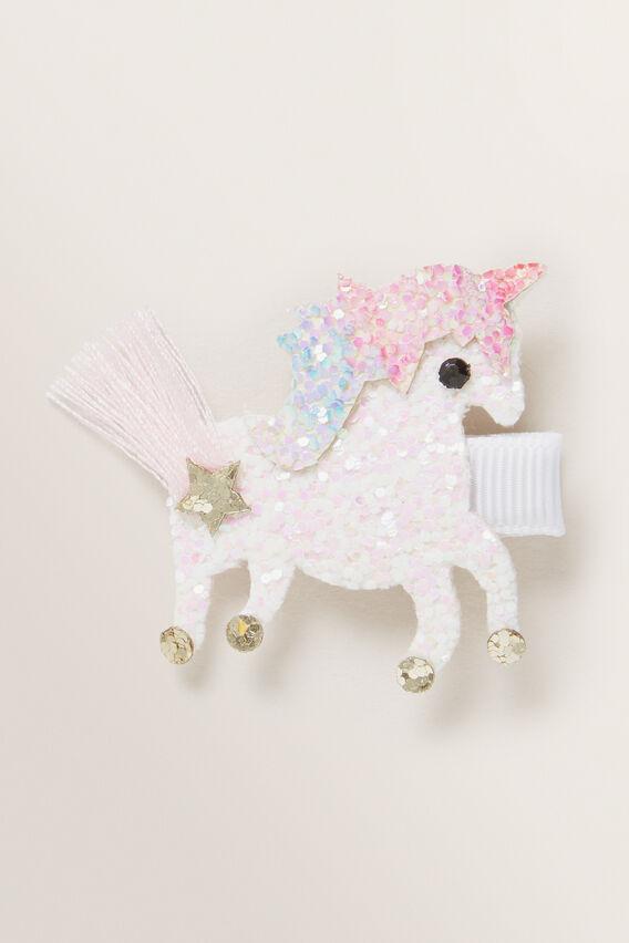 Glitter Unicorn Duck Clip  MULTI  hi-res