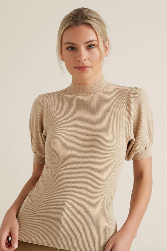 Puff Sleeve Knit  QUICKSAND  hi-res
