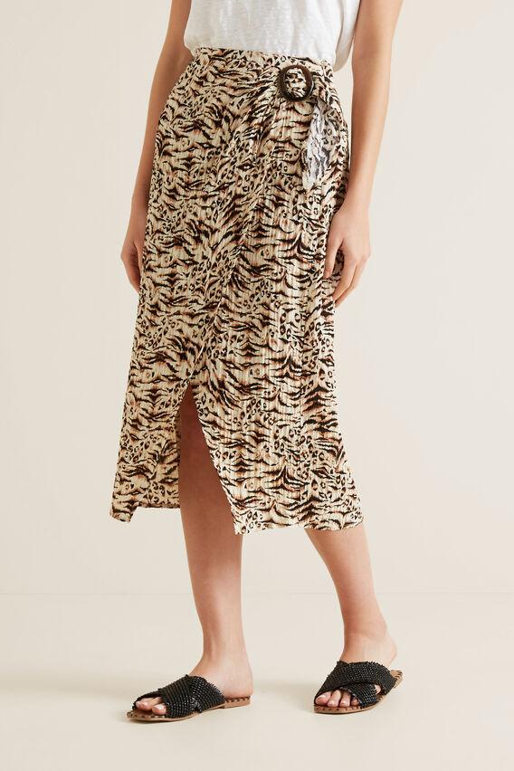 Resort Animal Wrap Skirt  ANIMAL PRINT  hi-res