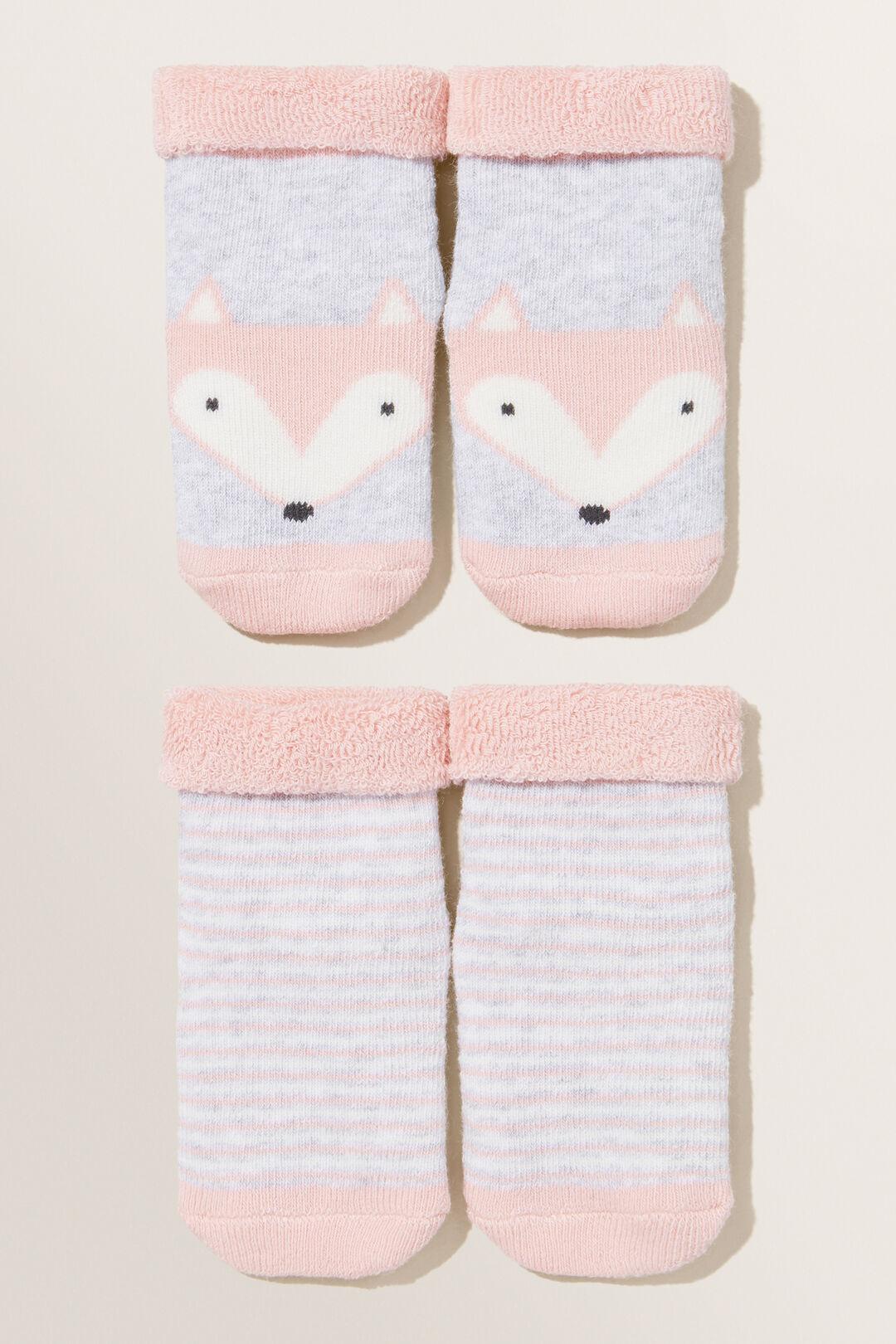 Fox Socks 2pk  DUSTY ROSE  hi-res