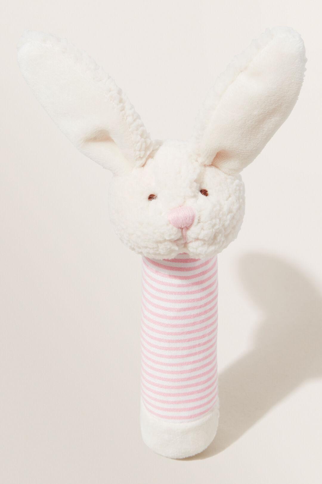 Bella Bunny Rattle  PINK  hi-res