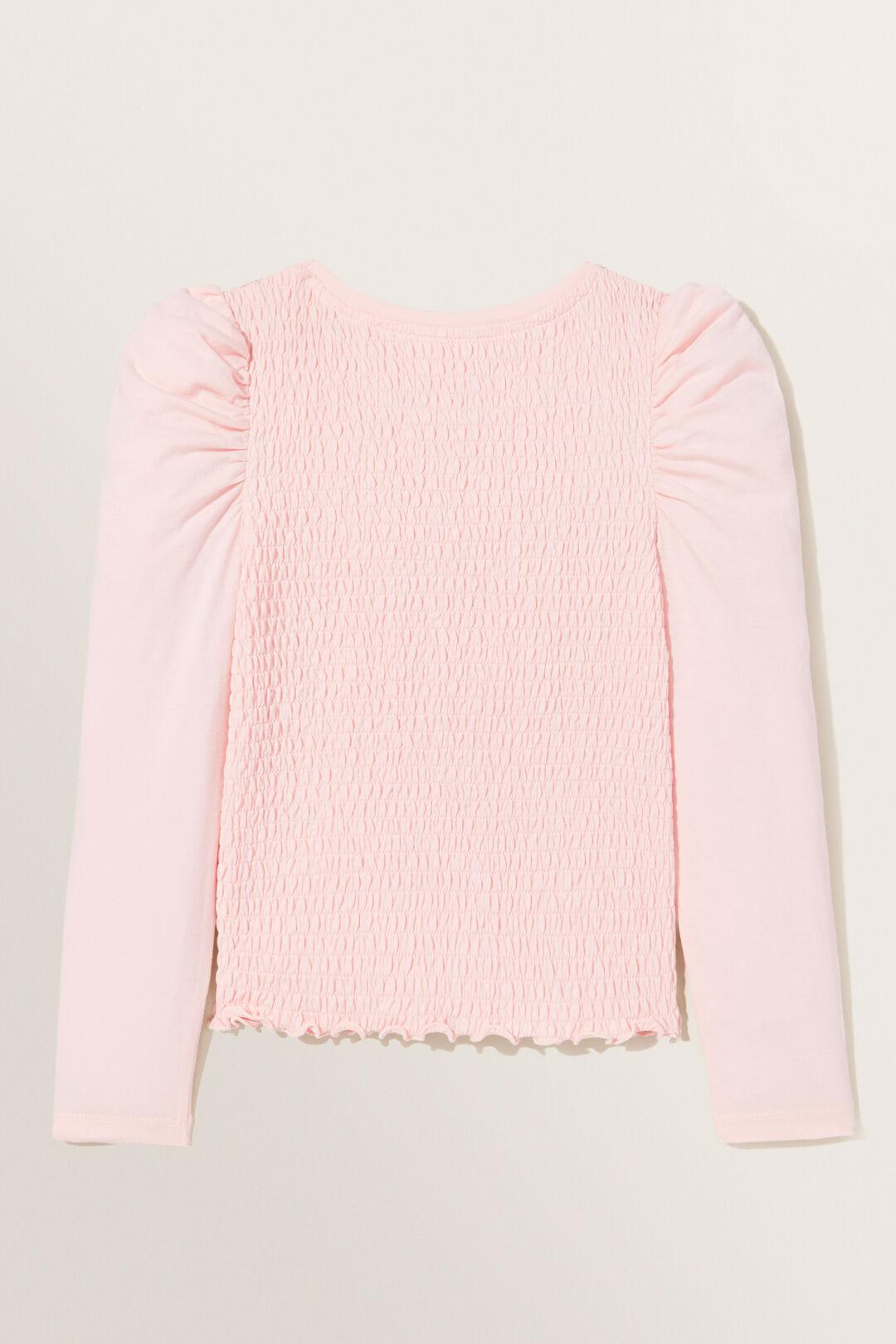 Shirred Long Sleeve Tee  DUSTY ROSE  hi-res