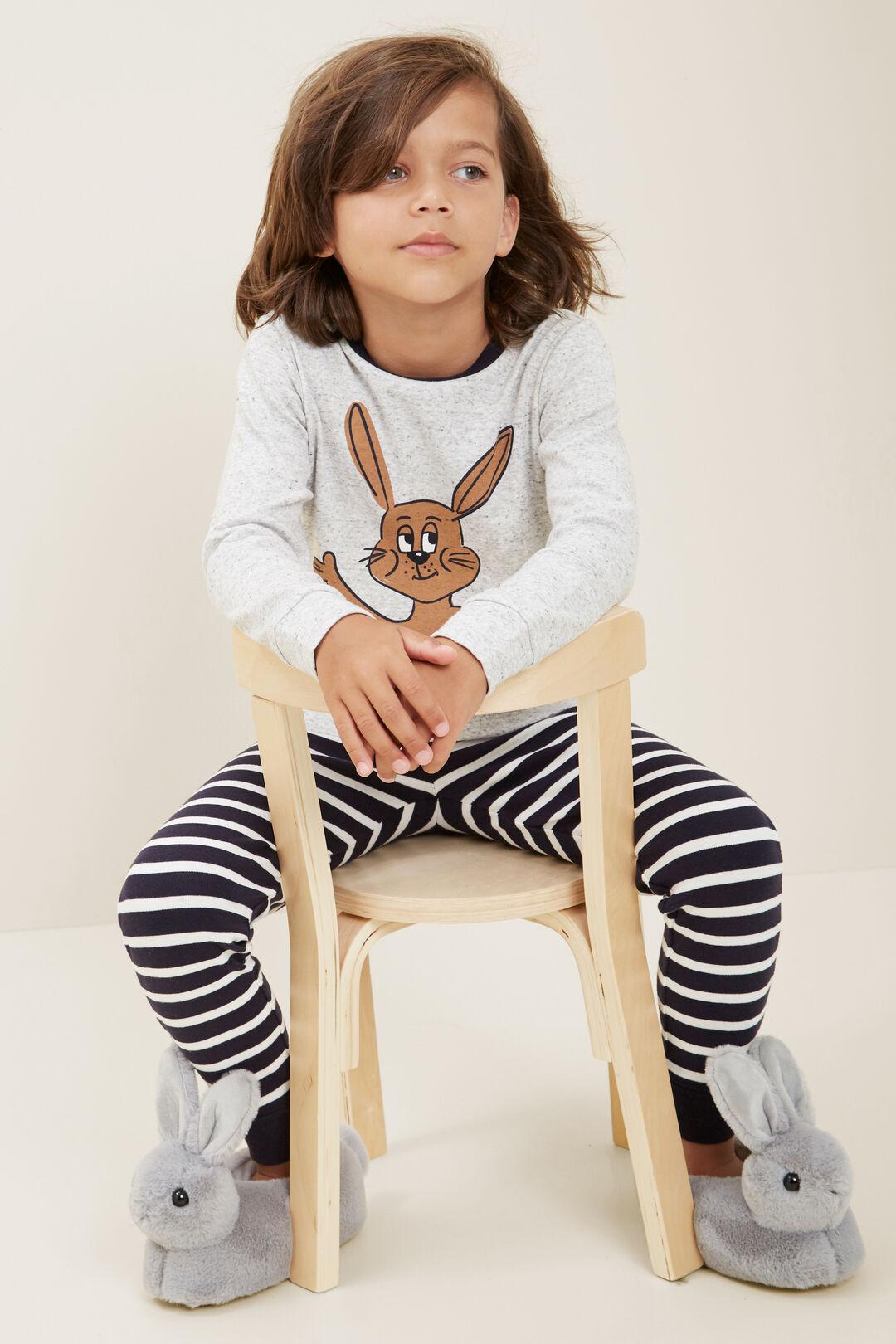 Bunny Stripe Long Sleeve  Pyjamas  CLOUDY MARLE  hi-res